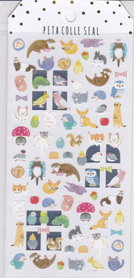 Animal Stickers  Budgie Budgerigar Parakeet Cockatiel Java Sparrow Owl  Major Mitchell Cockatoo Rabbit Hedgehog Squirrel etc. - Boutique SWEET BIRDIE