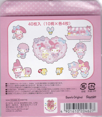 Sanrio Original My Melody Sticker Flakes Pack Japanese Style Summer Stickers - Boutique SWEET BIRDIE