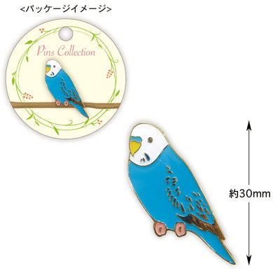 Blue Budgie Budgerigar Parakeet Pin Bird Pin
