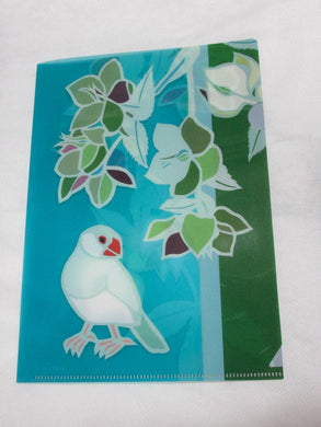 A5 File Folder Organizer Bird Java Sparrow & Christmas Rose - Boutique SWEET BIRDIE