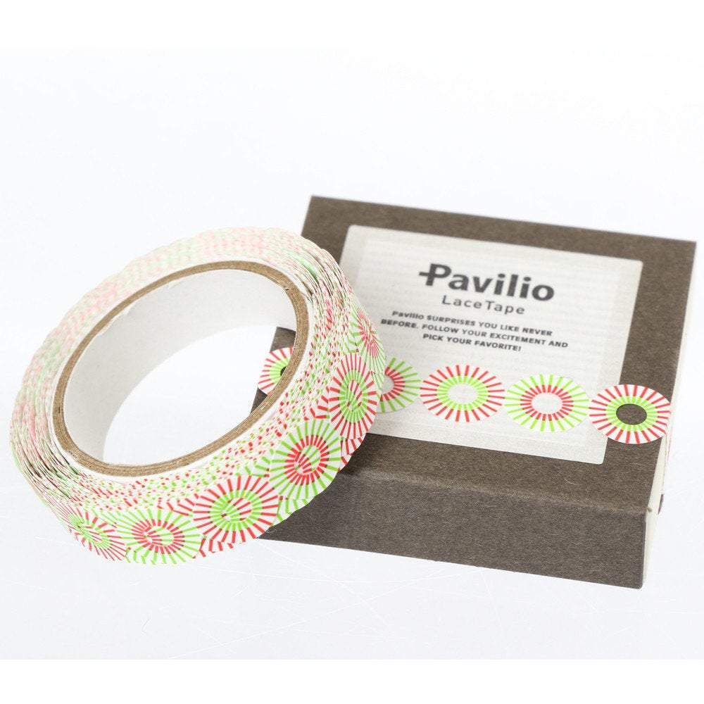 PP Lace Deco Tape Sun Son Red Pavilio MI-11-SR Mini Size - Boutique SWEET BIRDIE