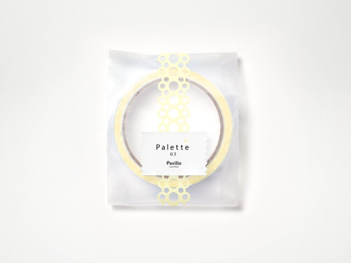 Lace Deco Tape Pavilio Palette Yellow Pastel Color Standard Size - Boutique SWEET BIRDIE