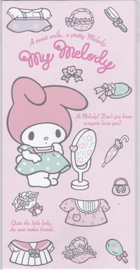 Sets of 3 Sanrio Original My Melody Envelopes with 3 Stickers - Boutique SWEET BIRDIE