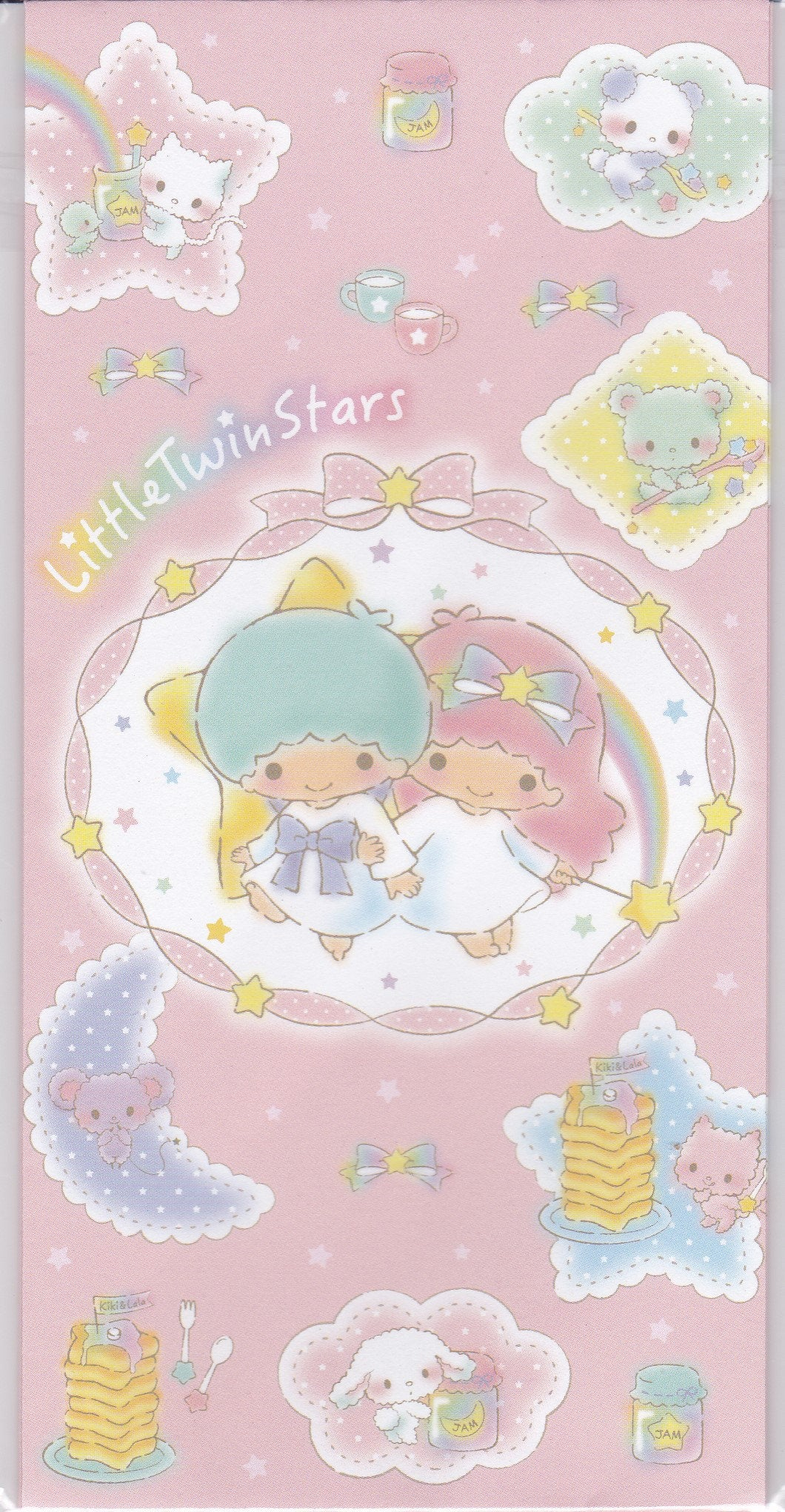Sets of 3 Sanrio Original Little Twin Stars Envelopes with 3 Stickers - Boutique SWEET BIRDIE