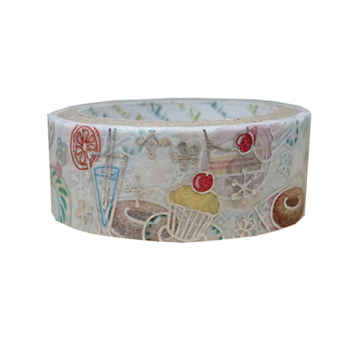 Sweet Japanese Silver Glitter Washi Tape Shinzi Katoh Design (ks-dt-10076) - Boutique SWEET BIRDIE