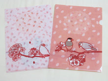 A5 File Folder Organizer Bird Java Sparrow & Cherry Blossom - Boutique SWEET BIRDIE