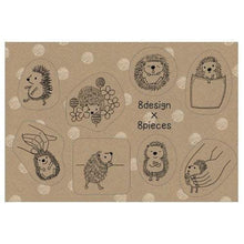 Hedgehog Craft Stickers Shinzi Katoh Design - Boutique SWEET BIRDIE