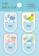 Sets of 16 Bird Flat Index Clips Budgie Budgerigar Parakeet Cockatiel Lovebird FC00041 - Boutique SWEET BIRDIE