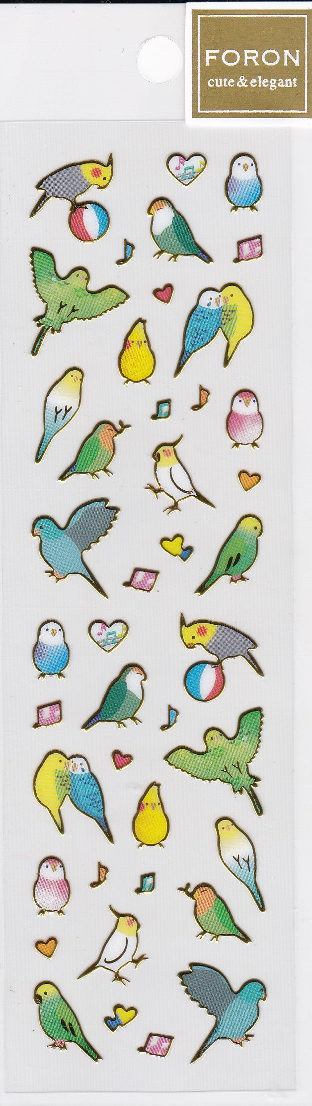 Bird Gold Frame Stickers Budgie Budgerigar Parakeet Cockatiel Lovebird Pacific Parrotlet  Bourke's Parrot Small Size 5084188