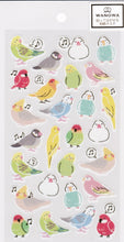Bird Japanese Washi Stickers with Gold Accent Budgie Budgerigar Parakeet Java Sparrow Lovebird Cockatiel  Bourke's Parrot  1354101