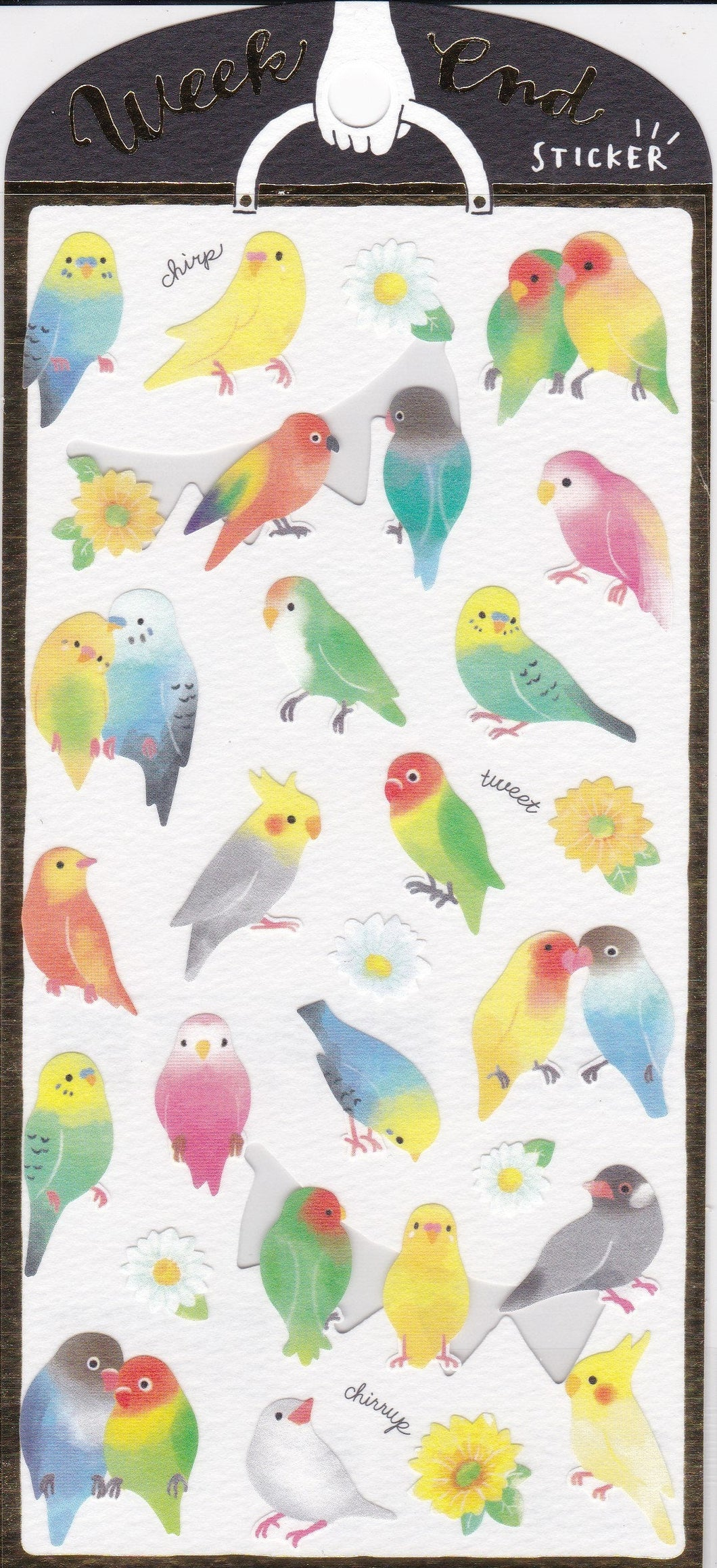 Bird Stickers Budgie Budgerigar Parakeet Lovebird Cockatiel  Bourke's Parrot Java Sparrow 79516 - Boutique SWEET BIRDIE