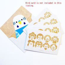 Sets of 5 Bird Mini Envelope Budgie Budgie Budgerigar Parakeet Cockatiel Lovebird Owl Java Sparrow Shoebill