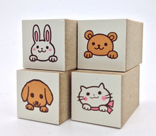 Rabbit Bear Dog Cat Rubber Stamp Mini Size - Boutique SWEET BIRDIE