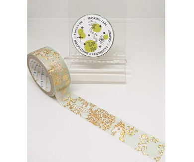 Princess & Unicorn Gold Glitter Japanese Washi Tape Shinzi Katoh Design ks-dt-10089 - Boutique SWEET BIRDIE