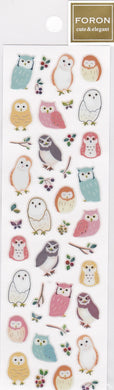 Owl Stickers with Metallic Accent 5114167 - Boutique SWEET BIRDIE