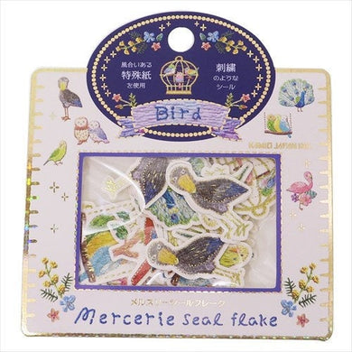 Bird Stickers Flakes with Gold Accent Budgie Budgerigar Parakeet  Shoebill Macaw Owl Flamingo Peacock  40 pieces 08943 - Boutique SWEET BIRDIE