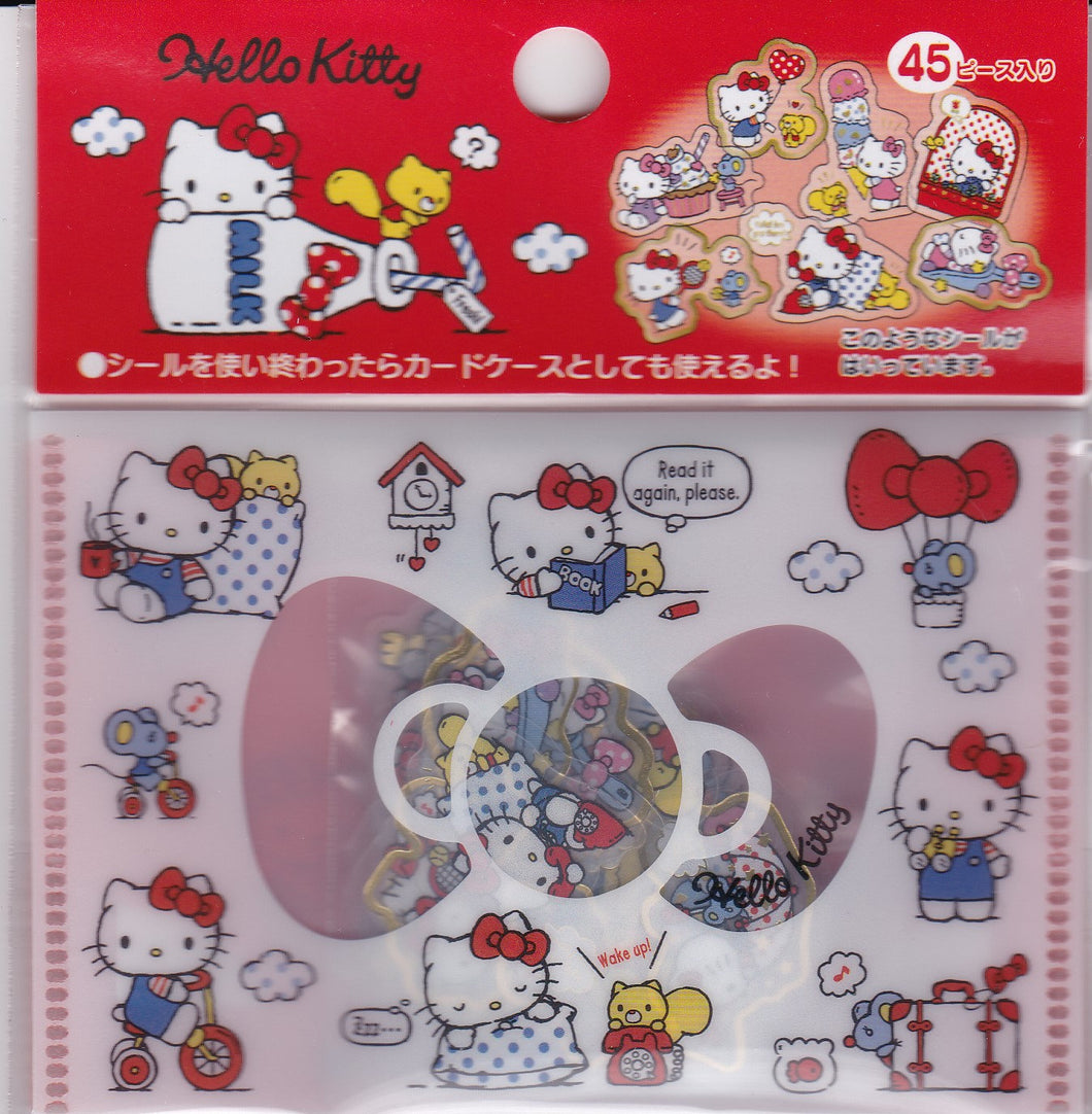 Sanrio Original Hello Kitty Stickers Flakes Pack with Gold Accent 45 pieces - Boutique SWEET BIRDIE