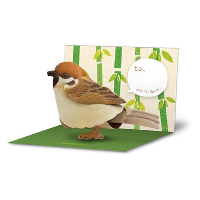 Sets of 10 Tree Sparrow Bird 3D Greeting Card Paper Craft Mini Letter