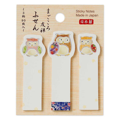Owl Yuzen Sticky Notes 1304406 - Boutique SWEET BIRDIE