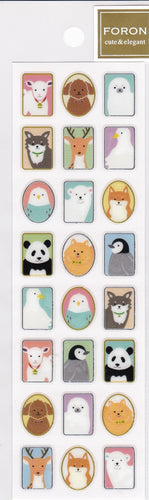 Animal Glitter Stickers Goat Dog Seal Deer Bird Duck Budgie Budgerigar Parakeet  Polar Bear Fox Panda Penguin 5114148