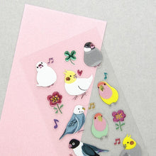 Bird & Flower Stickers with Glitter Accent Java Sparrow Cockatiel Budgie Budgerigar Parakeet Lovebird 5114172 - Boutique Sweet Birdie