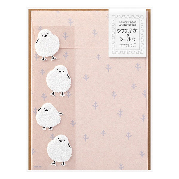 Long-tailed Tit Letter Set with Stickers 86758006