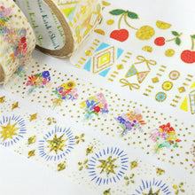 Butterfly & Ribbon Gold Glitter Japanese Washi Tape Shinzi Katoh Design - Boutique SWEET BIRDIE