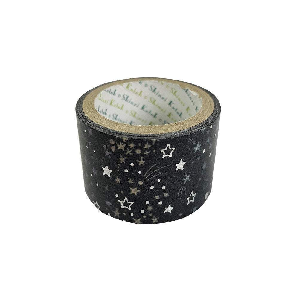 Starlight Silver Glitter Japanese Washi Tape ks-dt-50003 - Boutique SWEET BIRDIE