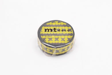 mt deco Ladder Dot Yellow Japanese Washi Tape Masking Tape MT01D450 - Boutique SWEET BIRDIE
