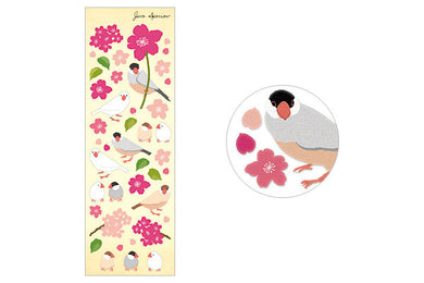 Finch Java Sparrow Stickers - Boutique SWEET BIRDIE