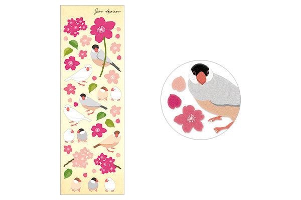 Finch Java Sparrow Stickers