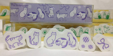 Cat Rubber Stamp Set - Boutique SWEET BIRDIE