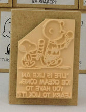 "Snoopy Rubber Stamp ""Life is like an ice cream cone.. You have to learn to lick it!"" - Boutique SWEET BIRDIE"