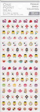 Alice in Wonderland One Point Stickers (750024) - Boutique SWEET BIRDIE