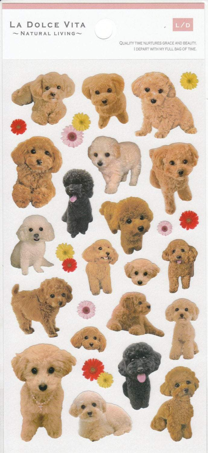 Poodle Stickers - Boutique SWEET BIRDIE