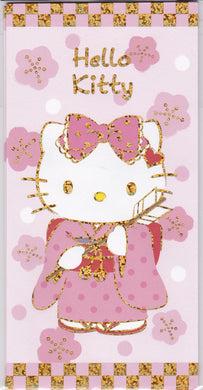 Sets of 3  Sanrio Original Hello Kitty Glittered Envelopes with 3 stickers - Boutique SWEET BIRDIE