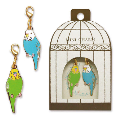 Sets of 2 Budgie Budgerigar Parakeet Metal Parts Charm - Boutique SWEET BIRDIE