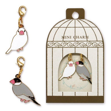 Sets of 2 Java Sparrow Metal Parts Charm - Boutique SWEET BIRDIE