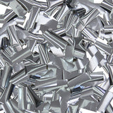 Silver Metallic Slip Confetti Close Up