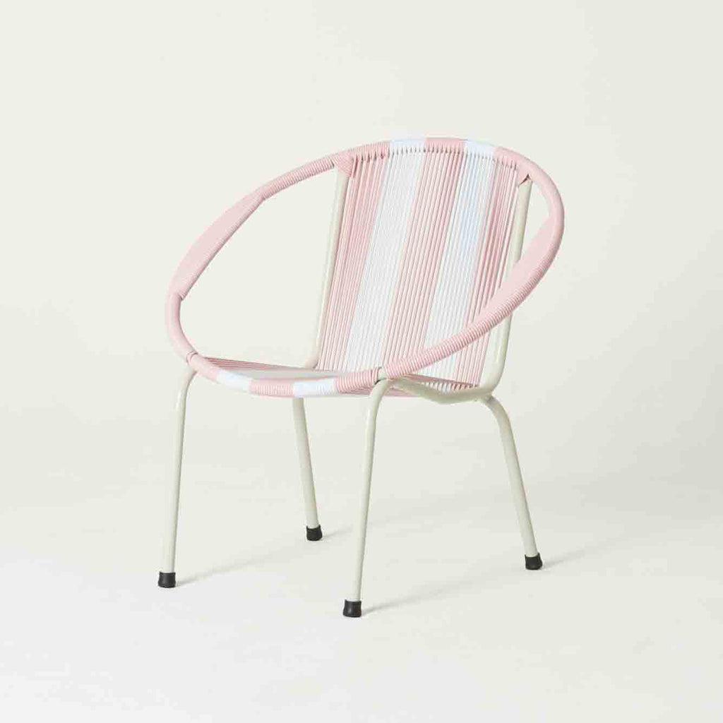 Merdeka Chair Original Lounge (Pastel pink + White)