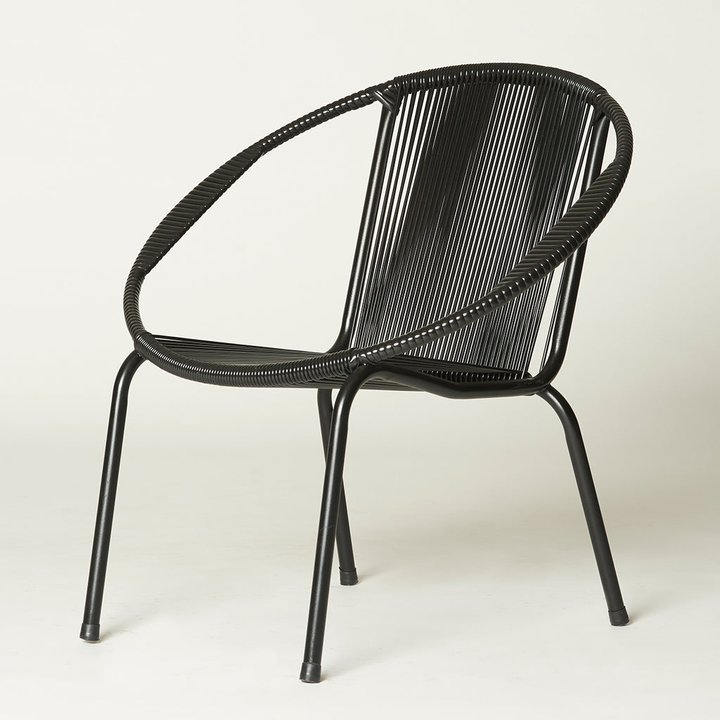 Merdeka Chair Lounge (Mono-Black 01)