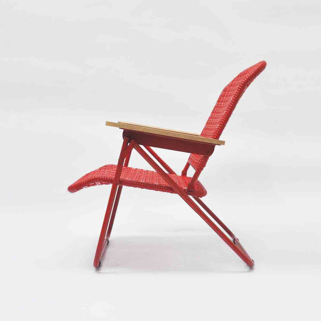 Traveller Chair (Tofu Weave) (Red)