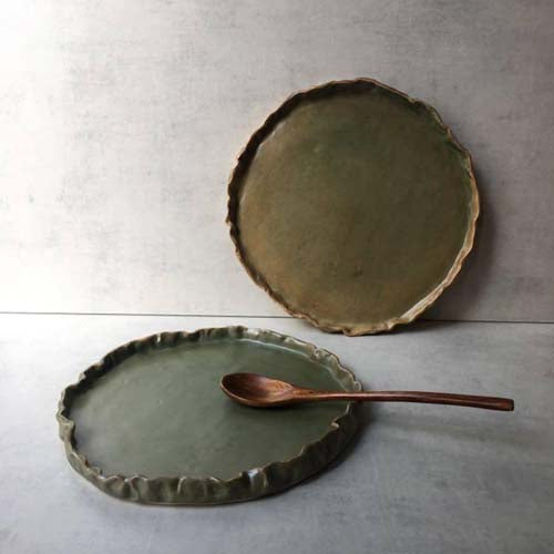 Folded Plate By Stoneworks Ceramics
