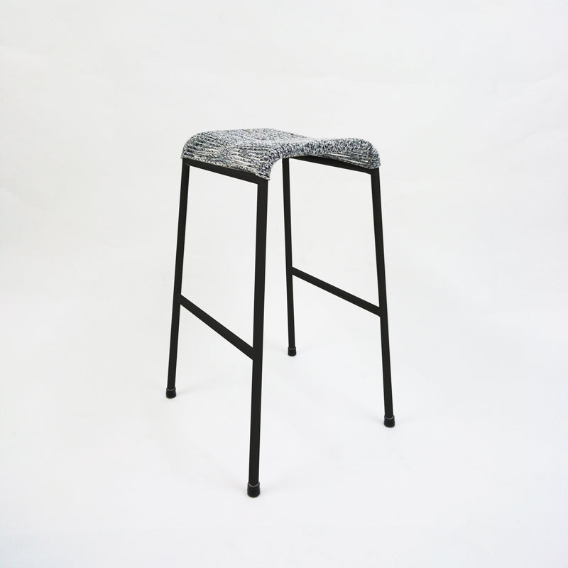 String Stool 01 (Bar Height) (Black/Greyknit)