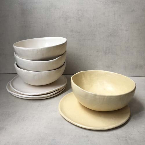 Bowl + Plate By Stoneworks Ceramics