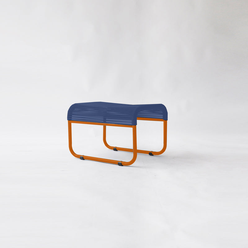 String Stool 04 (Foot Stool) (MONO - Orange Blue)