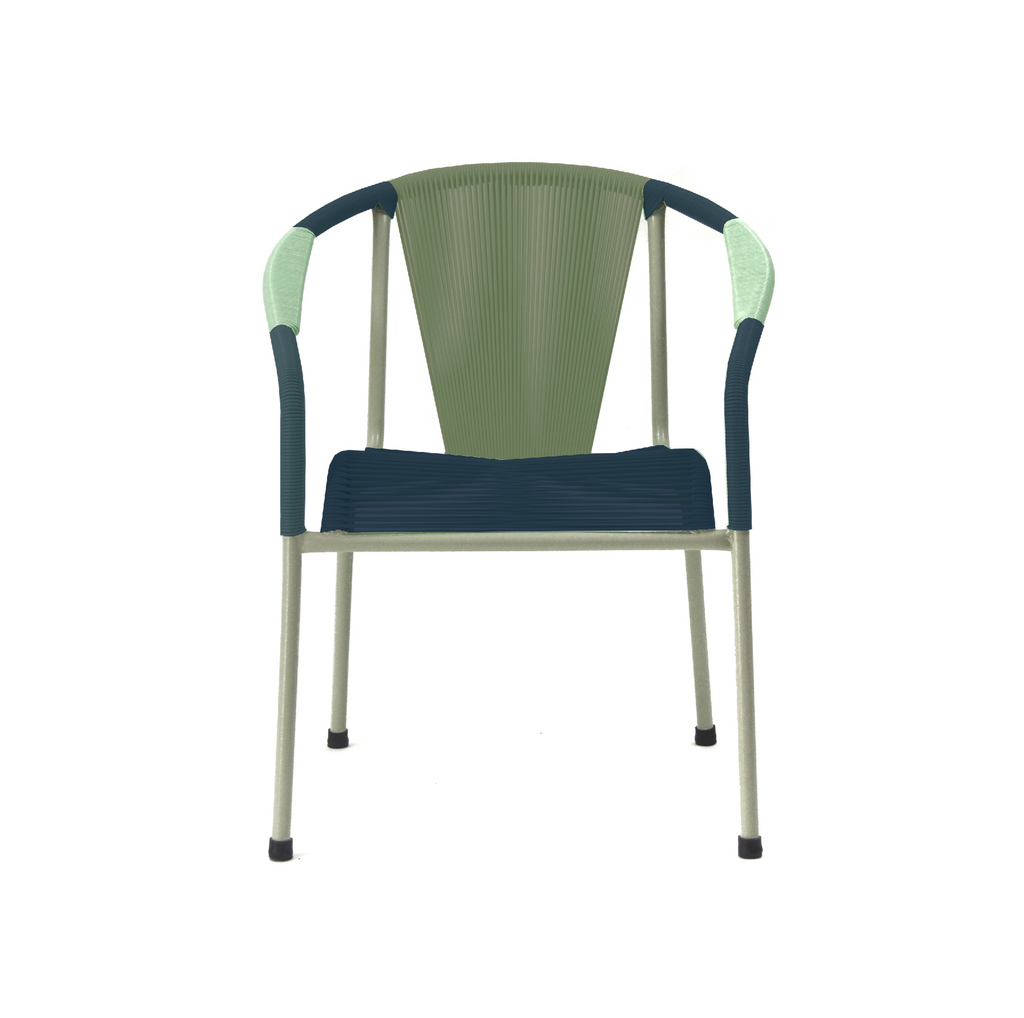 Shell Chair Lounge MIX - Olive Green + Navy Blue (340 mm)