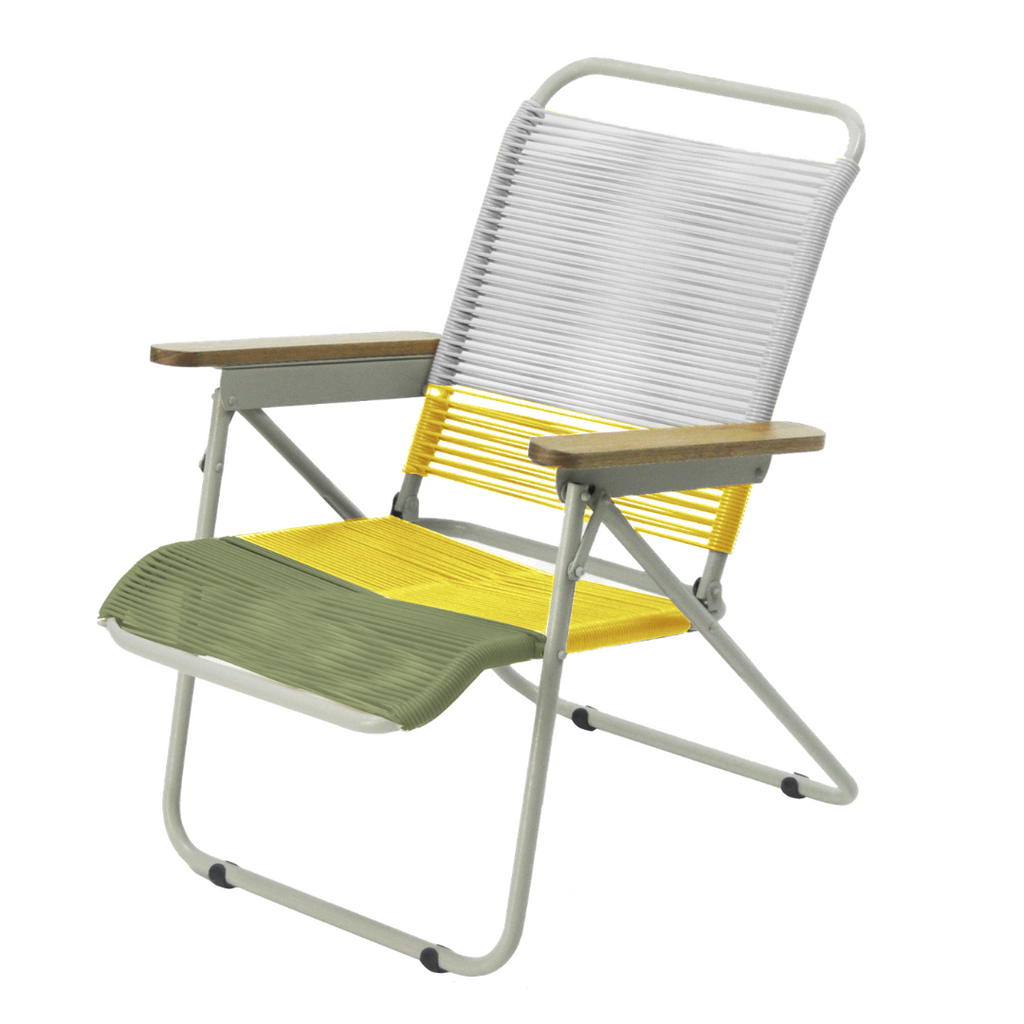 Traveller Chair Mix Strings - Aqua White + Yellow + Olive Green