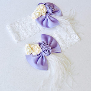 Big Lavender Bow Headband