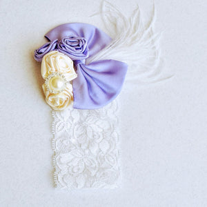 Big Lavender Bow Headband - Tianoor
